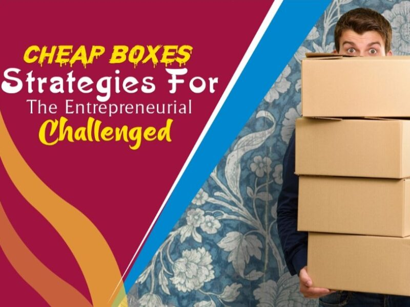 Cheap Boxes Strategies for the Entrepreneurially Challenged